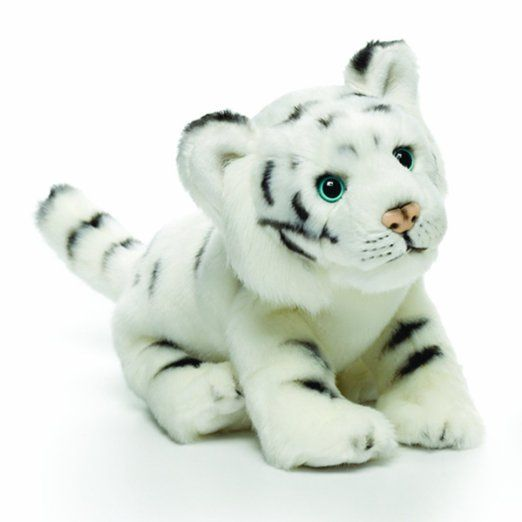 Nat and Jules White Tiger Plush Toy, Small