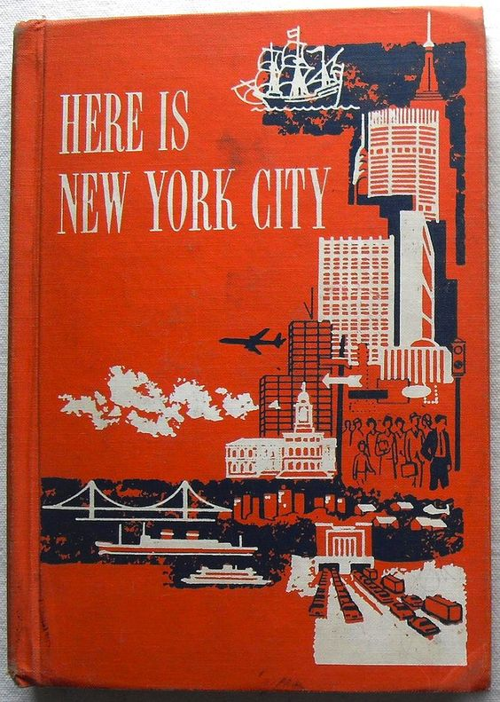 1950s HERE IS NEW YORK CITY: 1950S Book, Retro Book, Books New York, Cities New York, Book Design