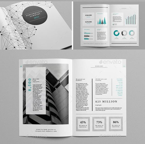 Best Indesign Annual Report Templates  Brochure