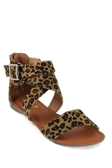 ANNA Shoes Bonnie-72 Animal Print Sandal