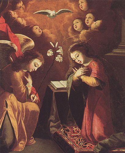 The Annunciation. Via Figuration Féminine Josefa de Óbidos, A Anunciação, 1676.