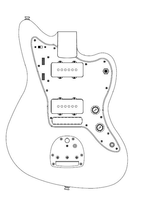 fender jazzmaster body template - 24192 developing jazzmaster body blueprint jazz image jpg