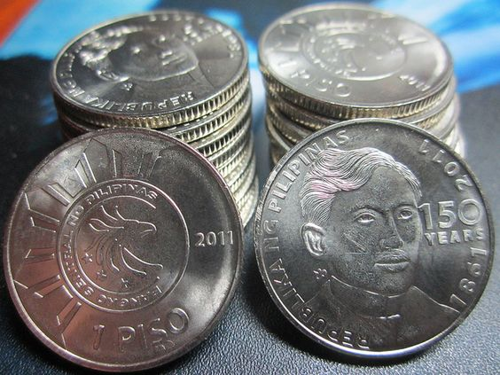 New Philippine Peso Php 1 00 Coin