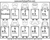 math worksheet : addition doubles worksheet 1 12 23 34 45 56 67 78 89 9  : Kindergarten Addition Worksheets Free Printable