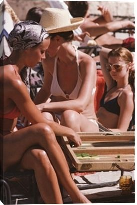 Backgammon By The Pool print by Slim Aarons at Photos.com 77442643: