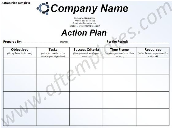 strategic planning action plan template - Google Search Work - sample action plans in word