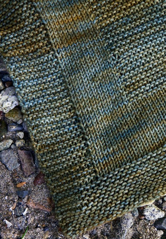 Beginner:  Combine garter and stockinette stitches for a modern look.