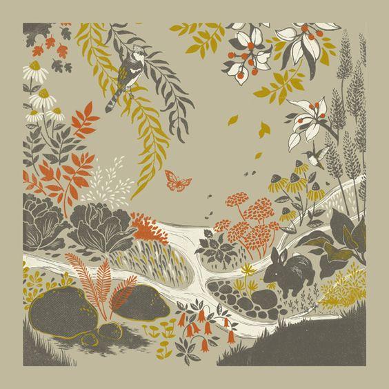 { teaganwhite } design & illustration  natural textures/woodland theme