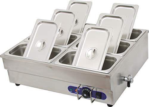 Amazon Com Intbuying Food Warmer Double Row 110v 6pan Bain Marie