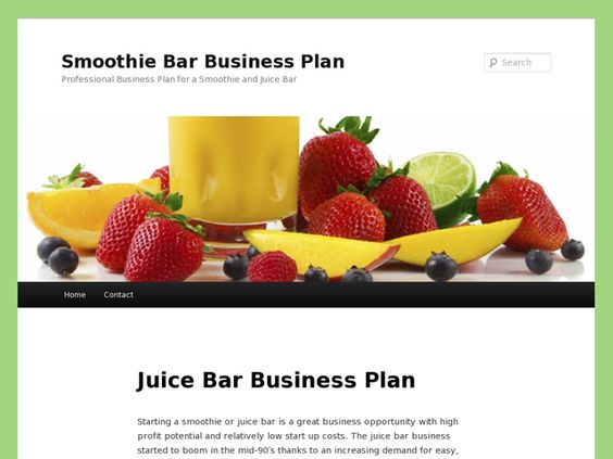 Smoothie and juice bar business plan juice bars Pinterest - bar business plan