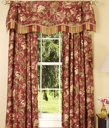 Valances Floral Curtains And Stripe Curtains On Pinterest