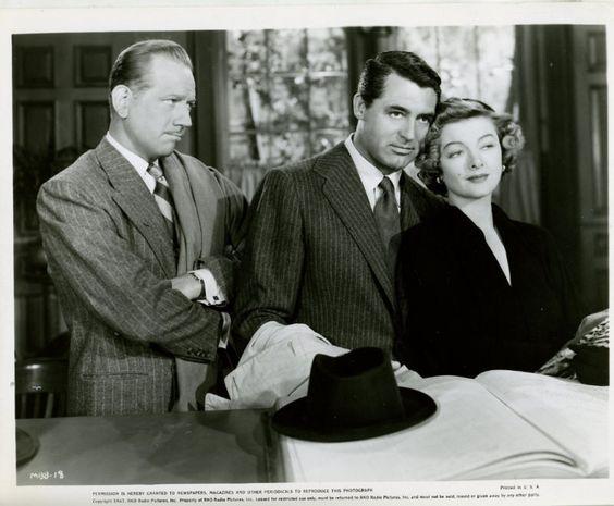 Melvyn Douglas, Cary Grant & Myrna Loy: