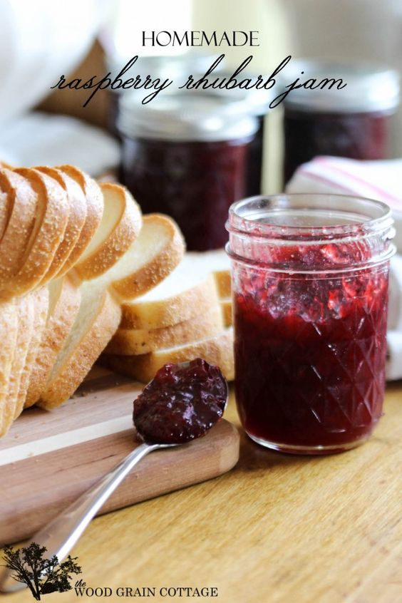 Raspberry Rhubarb Jam...delicious and really simple to make!