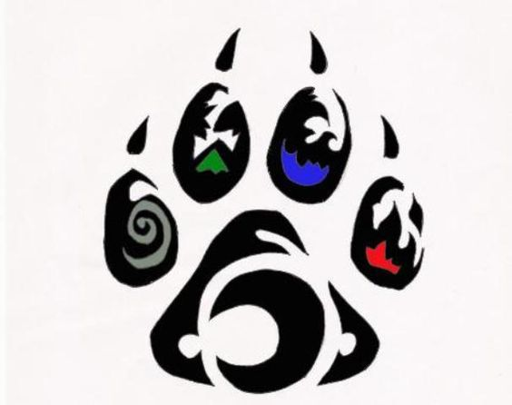 Tribal bear bears and tattoos and body art on pinterest for Lion paw tattoo