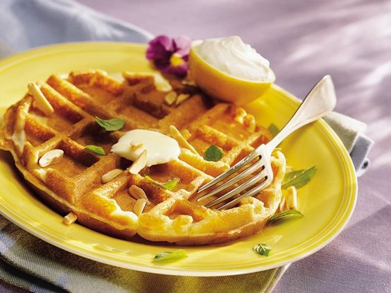 breakfast brunch and more lemon cream waffles lemon the lemons cream ...