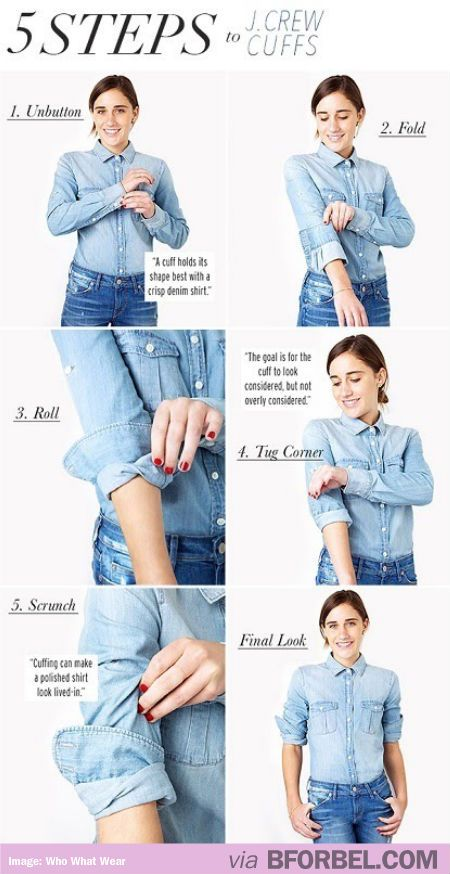 Tips and tricks: How to fold your sleeves like J.Crew.