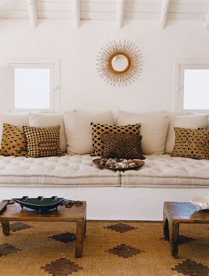 This is my last Jacques Grange post. I swear. But I couldn't post about his guest houses in Portugal without sharing the one that he actually uses while on holiday. This one is definitely my favorite and the day bed is going in my beach house folder immediately. It's perfection.