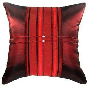 "Artiwa Red Stripe 16""x16"" Sofa Bed Decorative Silk Throw Pillow Cover Gift Idea by Artiwa, http://www.amazon.com/dp/B007PN8MWI/ref=cm_sw_r_pi_dp_fBgasb1AD6E1N"