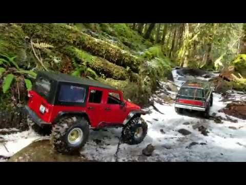 Scx10 Ll Jeep Rubicon Trx 4 Vs Extreme Trail First Part Jeep