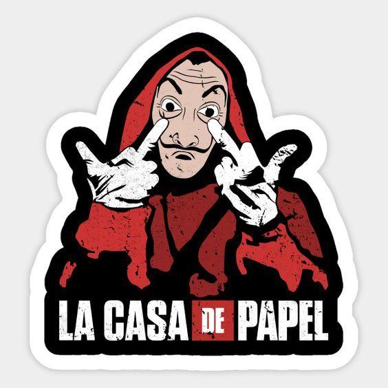 La Casa De Papel Logo Design Las Casas De Papel Pegatinas Bonitas Pegatinas De Vinilo
