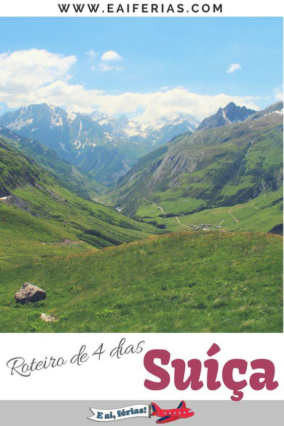 Roteiro de 4 dias na Suíça.