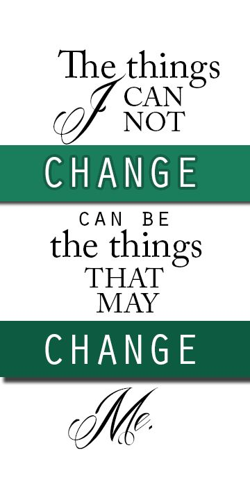 The only thing certain in life is that things eventually change .. When change happens, it can usher in an entirely new future.