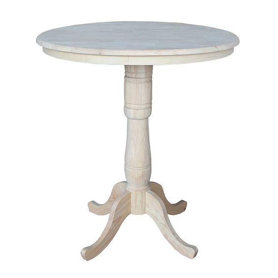 Round Pedestal Dining Table, Beig/Green (Beig/Khaki)