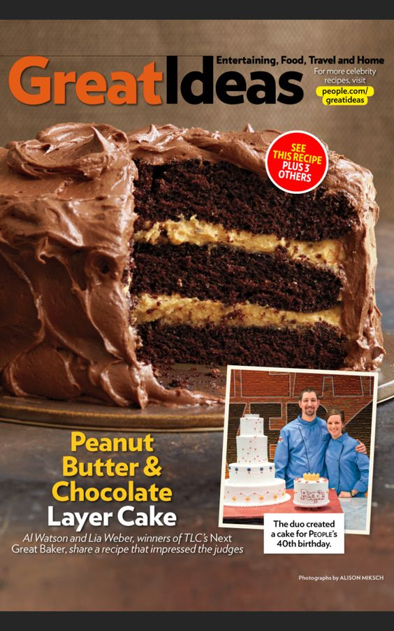 Chef #Lia's award winning Chocolate - Peanut Butter filled layer cake ...