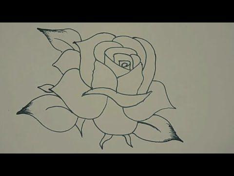 طريقة رسم وردة كيف ترسم وردة تعليم الرسم كيفية رسم وردة بالقلم الرصاص رس Acrylic Painting Flowers Painting Tutorial Acrylic Painting For Beginners