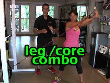 Leg and Core Combo // Time Saving Exercise