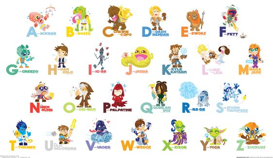Teach The Alphabet To Your Child With Star Wars Characters - DesignTAXI.com