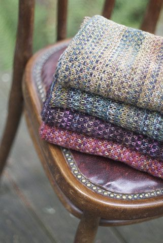 More linen stitch at ChurchmousePictures of Claudia Hand Painted Linen Stitch Wrap Pattern Addendum (FREE Download): Knitting Scarve, Free Pattern, Churchmouse Yarn, Knitting Inspiration, Linen Stitch, Colorful Yarns