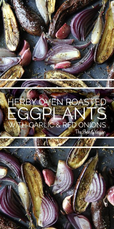 Roasted Baby #Eggplants with #Mediterranean #Herbs.
