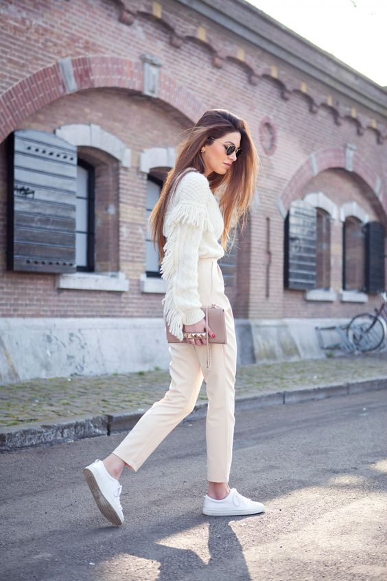 Philosophy Fringe Sweater Valentino Va Va Voom Leather Shoulder Bag Sandro Low Top Sneakers Ray-Ban Round Sunglasses