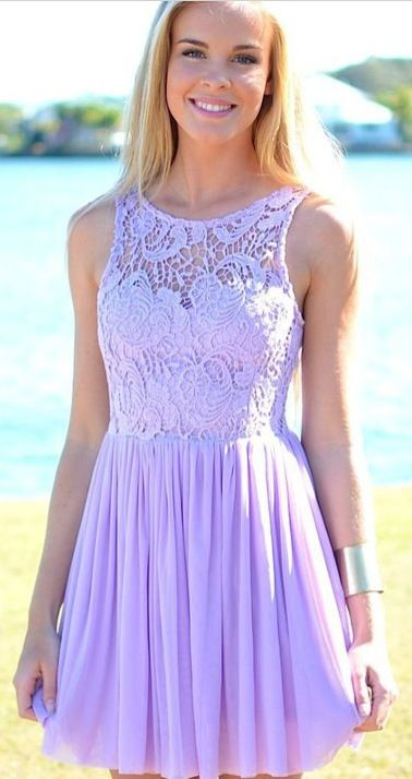 Lavender Homecoming Dress  For the dances...  Pinterest  Colors ...