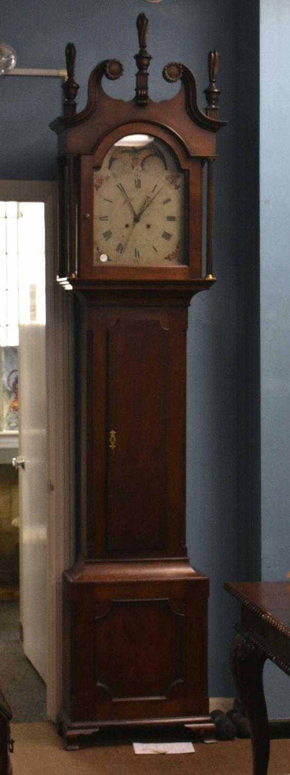 For Auction 18thc Jacob Klingman Tall Case Clock York Pa 713 On Jan 11 2020 Keystone Auction Llc In Pa Antique Wall Clock Clock American Furniture