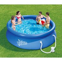 Walmart Summer Escapes Round 10 X 26 Inflatable Quick Set Swimming Pool Summer Fun