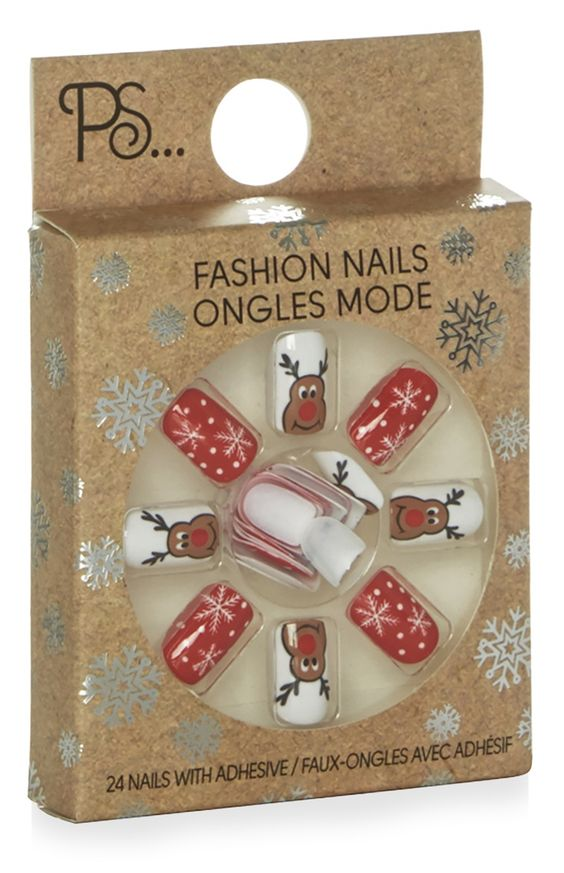Faux ongles motifs de Noël