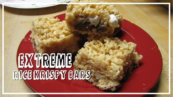 CHOCOLATES FOR BREAKFAST and other Sweet Somethings: Extreme Rice Krispy Treats