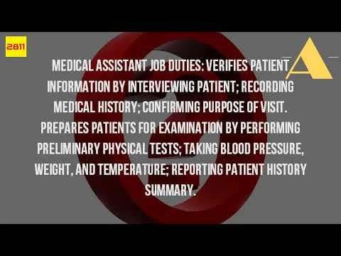 What Does A Medical Assistant Do Watch This Video For A Few Of