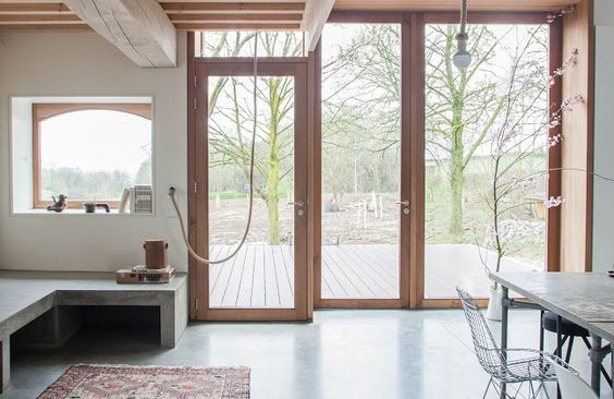 Architecture, locally sourced materials, Green renovation, green architecture, green renovation, the netherlands, courtyard, farmhouse, Gallery, local artisans, spruce, timber cladding, green extension, Banholt farmhouse, Jeanne Dekkers Architecture