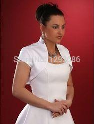 Online Shop Short sleeve Satin Bridal Jacket White/Ivory Bridesmaid Dress satin jacket bolero Wedding Dress Short coat|Aliexpress Mobile