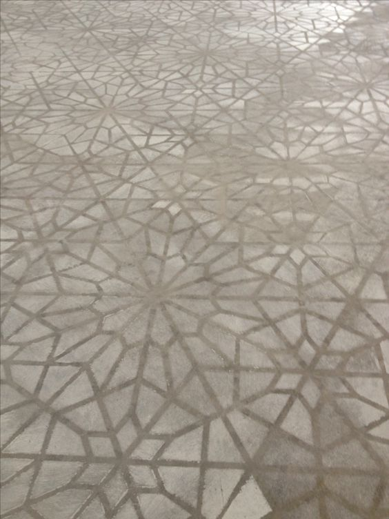 Starry Moroccan Night Stencil Concrete Patios Patterns