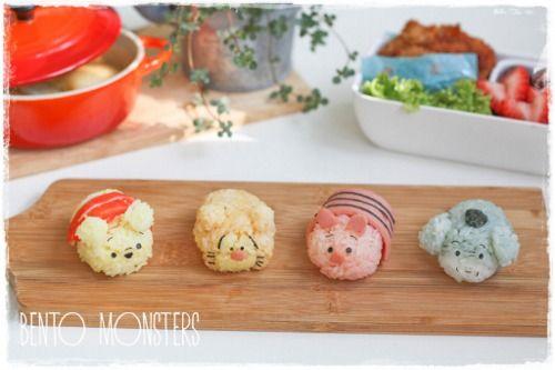 Winnie the Pooh & friends sushi! OMG! (: