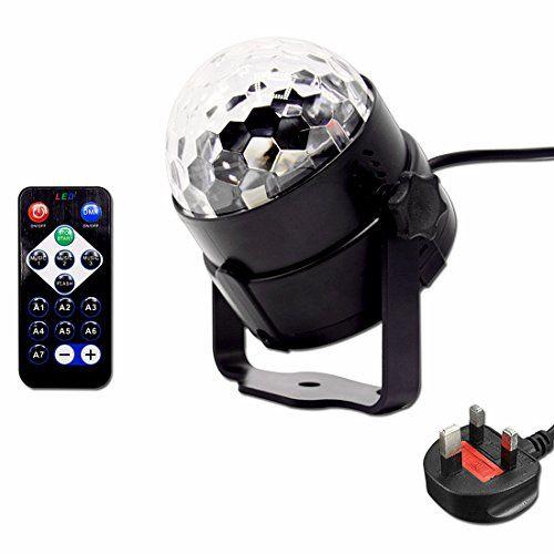 Besmall RGB LED USB Mp3 Discokugel Licht mit Fernbedienung f r - led deckenlampen küche