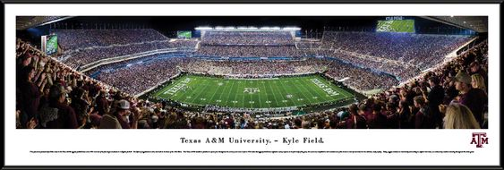 Texas A&M Aggies Football Panorama - Kyle Field Picture - Standard Frame $99.95
