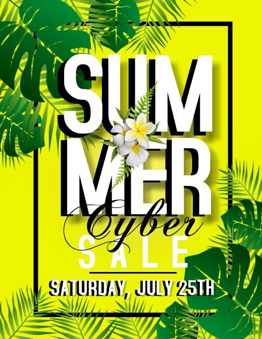 Summer Cyber Sale Template In 2020 Cyber Monday Poster Cyber Sale Templates