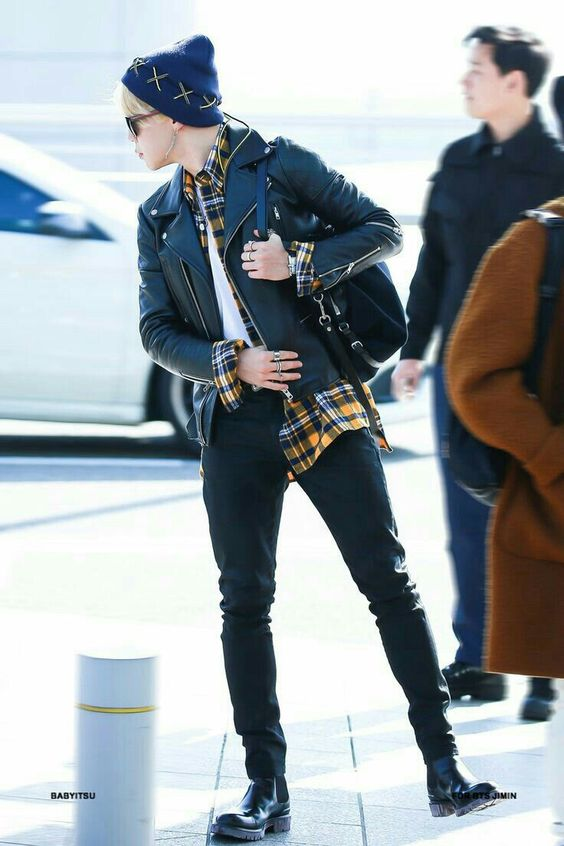 Park Jimin  airport fashion