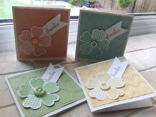 Stamps:  Flower Shop with matching Pansy punch, Fabulous Phrases Inks:  Crisp Cantaloupe, Coastal Cabana, Pear Pizzazz, So Saffron and  Baked Brown Sugar Paper: Whisper White, Natural White,  Crisp Cantaloupe, Coastal Cabana, Pear Pizzazz and So Saffron Embellishments: Hexagon and Chevron Embossing folders  Stampin' Up!