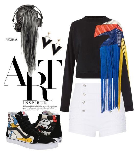 """""""Be deferent !"""" by farnazarsalann ❤ liked on Polyvore featuring Pierre Balmain, Christopher Kane and Vans"""